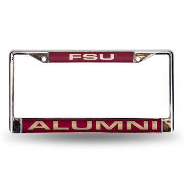 Florida State Alumni Laser Chrome License Plate Frame