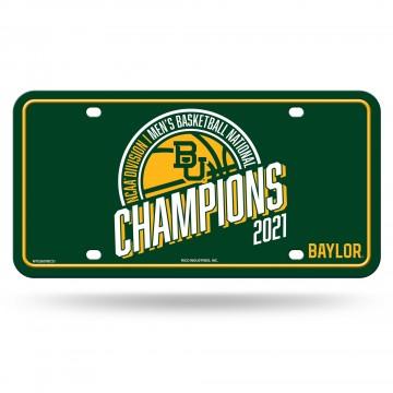 Baylor Bears 2021 National Champs Metal License Plate