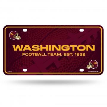 Washington Football Team Metal License Plate