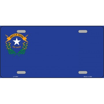 Nevada State Flag Offset Metal License Plate