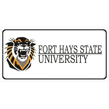 Fort Hays State University Photo License Plate