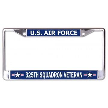 Custom U.S. Air Force Any Squadron Veteran Chrome License Plate Frame