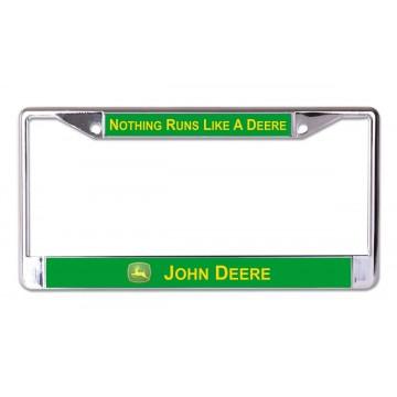 John Deere Nothing Runs Chrome License Plate Frame