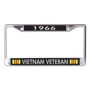 1966 Vietnam Veteran Chrome License Plate Frame