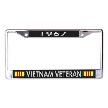 1967 Vietnam Veteran Chrome License Plate Frame
