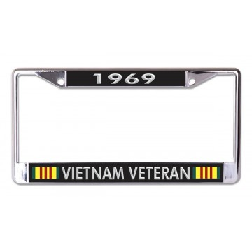 1969 Vietnam Veteran Chrome License Plate Frame