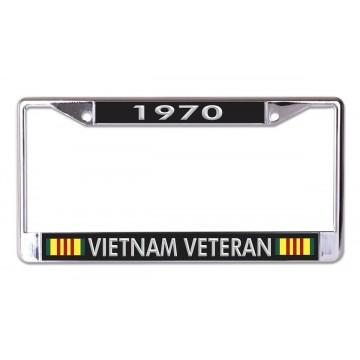 1970 Vietnam Veteran Chrome License Plate Frame
