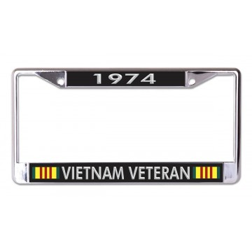 1974 Vietnam Veteran Chrome License Plate Frame