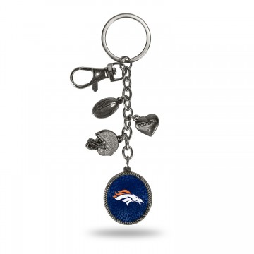 Denver Broncos Charm Key Chain