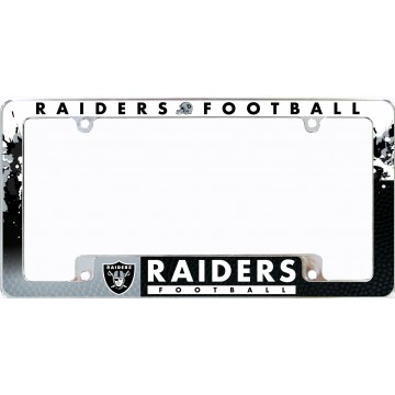 Oakland Raiders All Over Chrome License Plate Frame