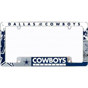 Dallas Cowboys All Over Chrome License Plate Frame