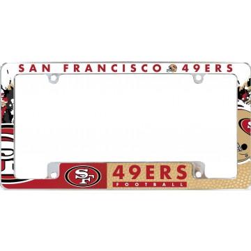 San Francisco 49ers All Over Chrome License Plate Frame