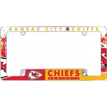 Kansas City Chiefs All Over Chrome License Plate Frame