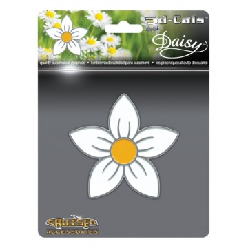 3D Cals Daisy Chrome Plastic Decal
