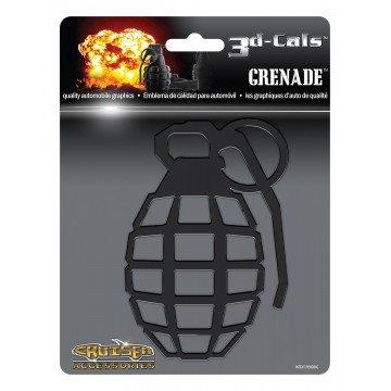 3D Cals  Grenade Black Plastic Decal