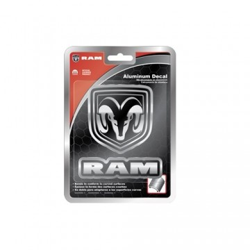 Dodge Ram Shield And Text Aluminum Decal