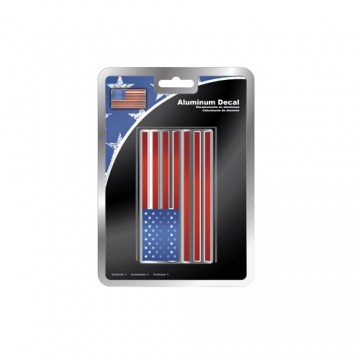 American Flag Aluminum Decal