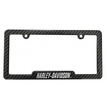 Harley-Davidson Carbon Fiber Look License Plate Frame