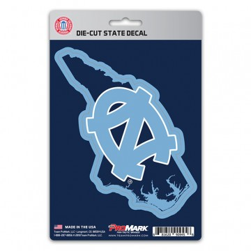 North Carolina Tar Heels Die Cut State Decal