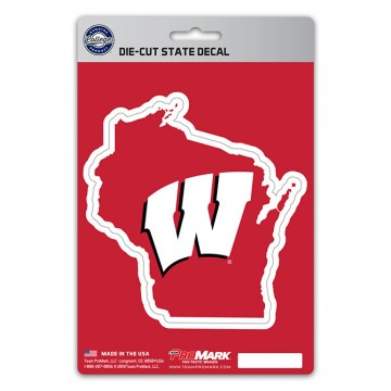 Wisconsin Badgers Die Cut State Decal