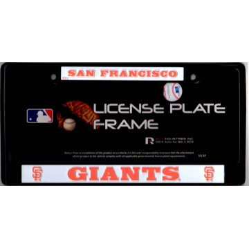 San Francisco Giants Black License Plate Frame