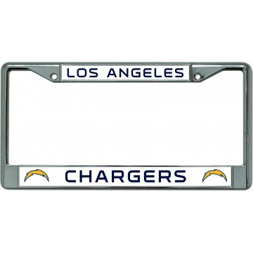 Los Angeles Chargers Chrome License Plate Frame