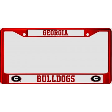 Georgia Bulldogs Anodized Red License Plate Frame
