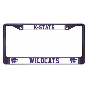 K-State Wildcats Anodized Purple License Plate Frame