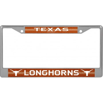 Texas Longhorns Glitter Chrome License Plate Frame