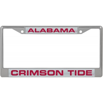 Alabama Crimson Tide Laser Chrome License Plate Frame