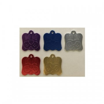 Dog Face Engravable Pet Identification Small Tags