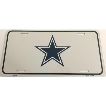 Dallas Cowboys Small Blue Star Metal License Plate