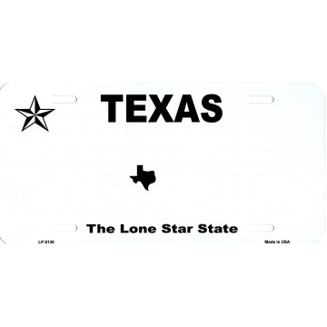 Texas State Background Blank Metal License Plate