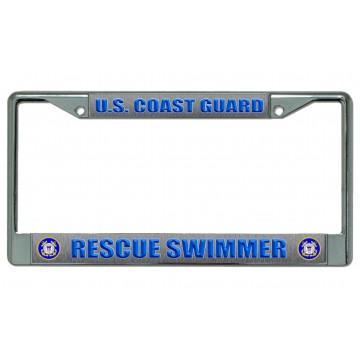 U.S. Coast Guard Rescue Swimmer Chrome License Plate Frame