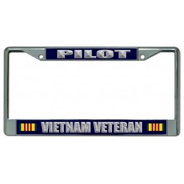 Pilot Vietnam Veteran Chrome License Plate Frame
