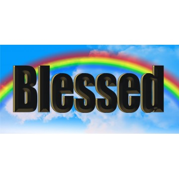 Blessed Rainbow Photo License Plate