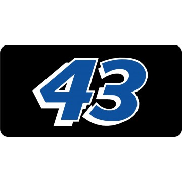 Nascar Racing #43 Blue Photo License Plate