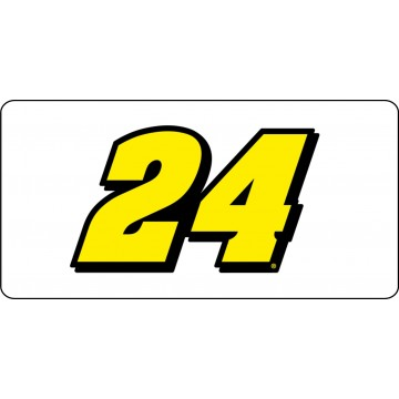 Nascar Racing #24 Photo License Plate