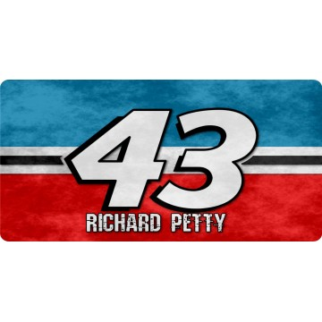 Richard Petty #43 Photo License Plate