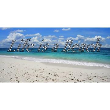 Life Is A Beach Photo License Plate