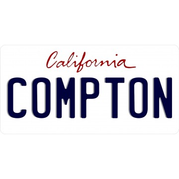California Compton Photo License Plate