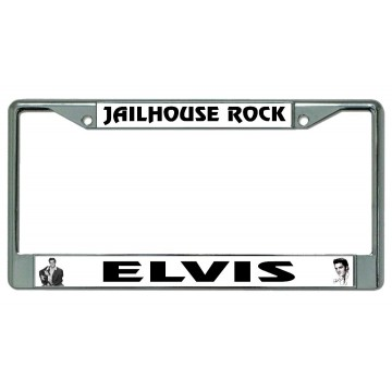 Elvis Jailhouse Rock Chrome License Plate Frame