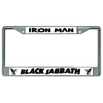 Black Sabbath Iron Man Chrome License Plate Frame