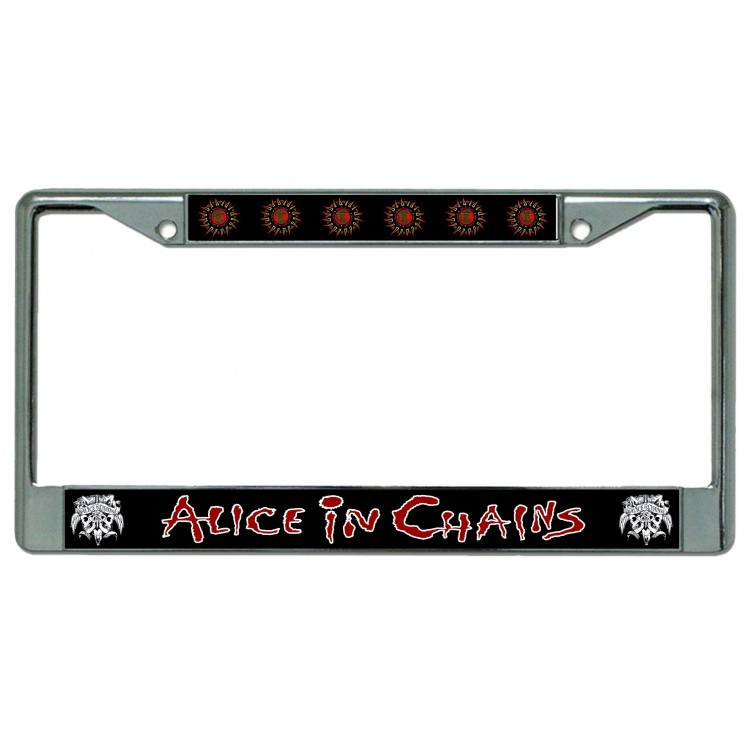 Alice In Chains Chrome License Plate Frame