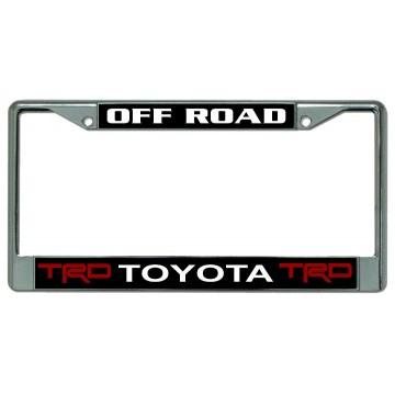 Toyota TRD Off Road Chrome License Plate Frame