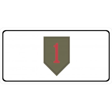 U.S. Army 1st Infantry Big Red One Photo License Plate