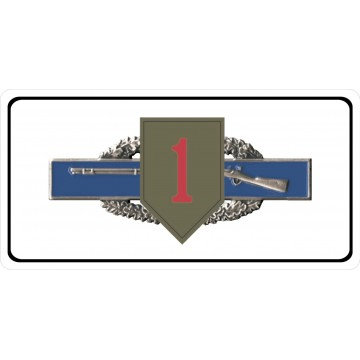 U.S. Army 1st Infantry Combat Photo License Plate