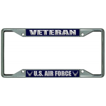 U.S. Air Force Veteran Every State Chrome License Plate Frame