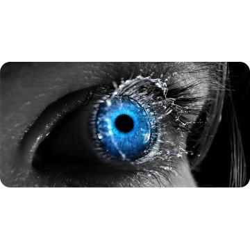 Blue Eye Splash Photo License Plate