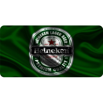 Heineken Waving Flag Photo License Plate
